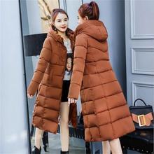Winter woman coats 2019 new parka padded warm clothes  winter jacket women long coat cotton hooded casaco feminino