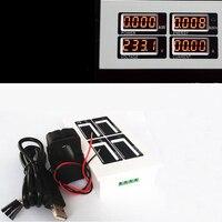 Ac 80 فولت-260 فولت الرقمية 0 ~ 100a واط السلطة متر فولت أمبير الفولتميتر مقياس و الانقسام الأساسية ct و usb كابل اتصال البرمجيات
