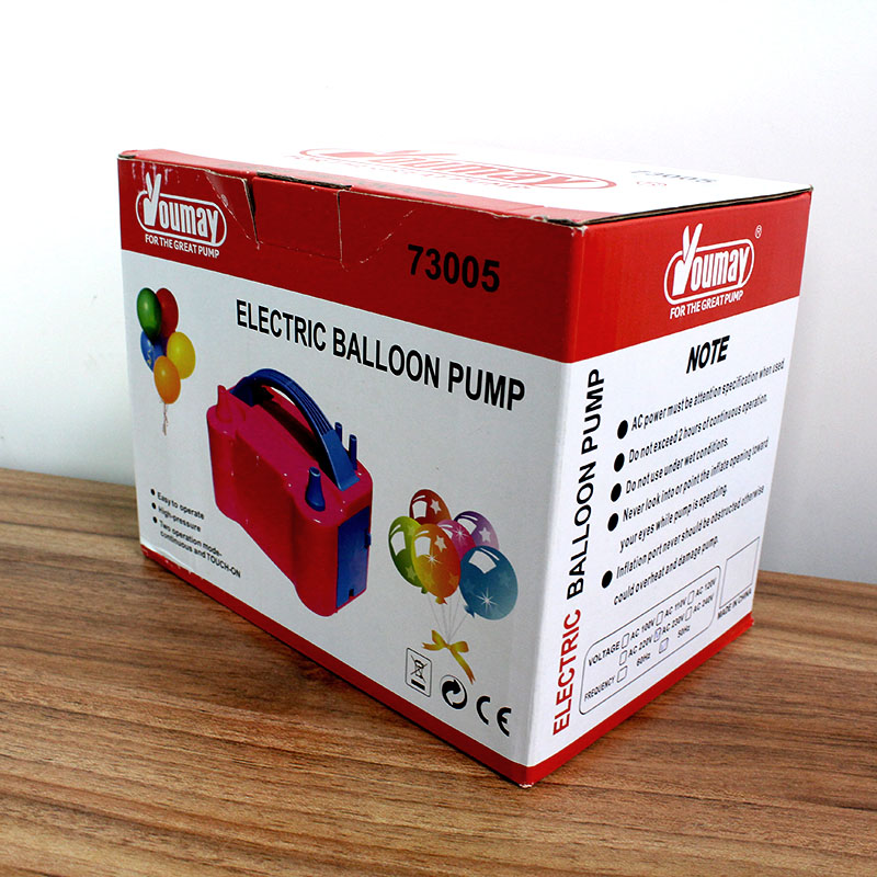 Pompe à ballon électrique 1 pc 220 V haute tension Double trou AC gonflable électrique ballon à Air gonfleur pompe Portable ventilateur
