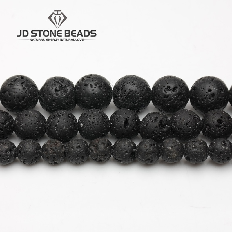 3A 5A 6A Natural Lava Stone  4-14mm Beads Unique Volcanic Rocks Beads Fashion Hand-made Jewelry Ornaments Energy Gemstone Beads