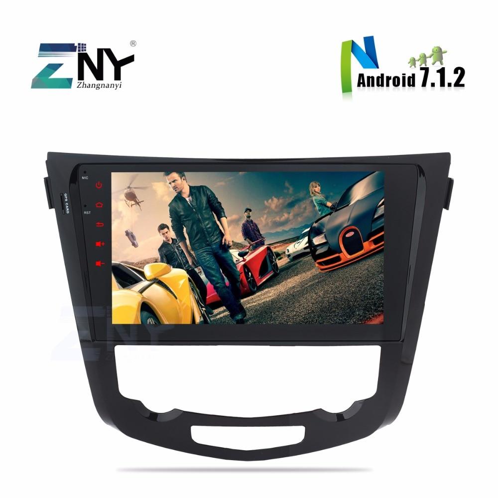 Octa Core Android 7.1 Car Stereo Multimedia Player For Qashqai X-Trail 2014-2017 10.1 HD Auto Radio RDS GPS NAVI TDA7850 No DVD
