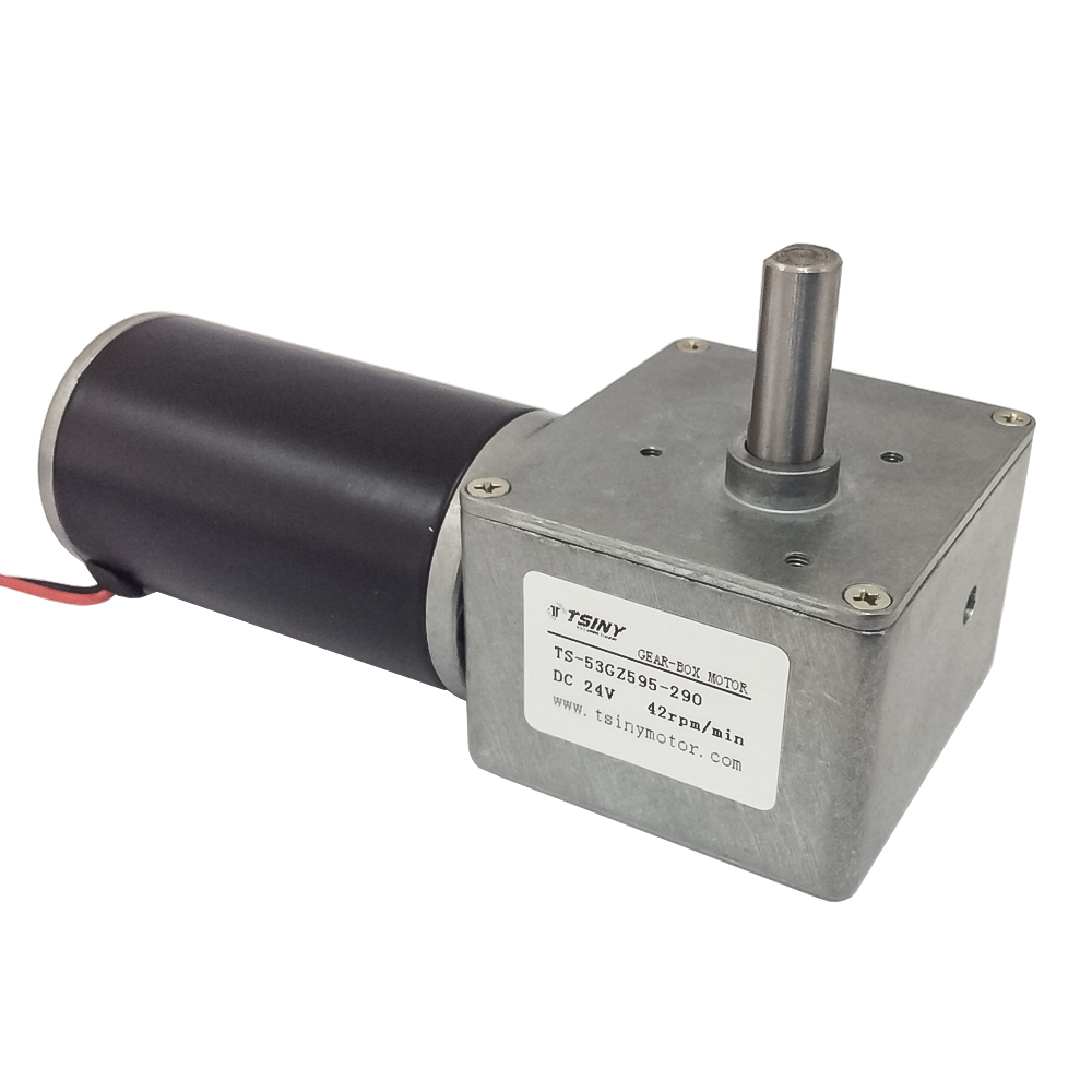 DC 12V 24V Worm Geared Motor 22rpm 42Rpm CW/CCW with Self-lockingDC 12V 24V Worm Geared Motor 22rpm 42Rpm CW/CCW with Self-locking