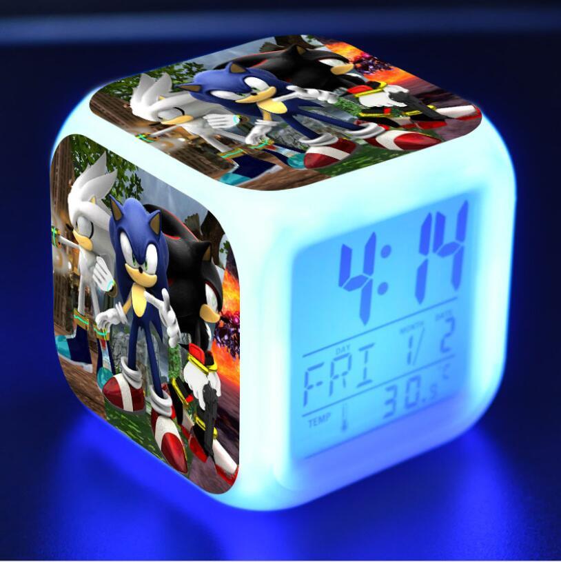 Sonic The Hedgehog LED Cube Alarm Clock 19