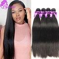 Alixepress 10A Cambojano Reta Virgem Do Cabelo 4 Pcs Muito Barato Humano Marcas Tecer cabelo Pacotes Top Quality 100 Cabelo Humano Para venda