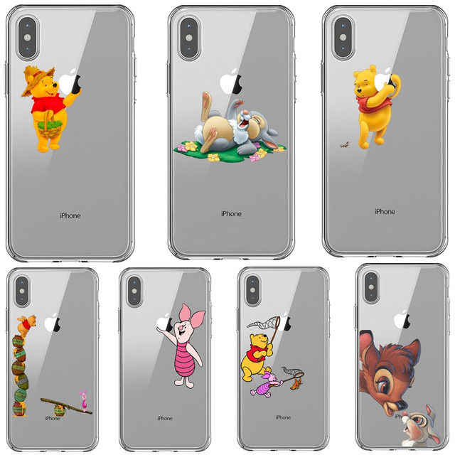 release date: e55ae 2a932 Cute Piglet Eeyore Winnie Pooh Tigger Robin Bambi Thumper Soft Phone Case  For iPhone 5 5S SE 6 6SPlus 7 8 Plus X XS XS MAX XR
