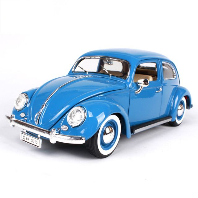 diecast wheel  1:18 Alloy 1955 Volksagen Kafer-Beetle Car Model Mini Car Toys For Children Gift Christmas Gift Free Shipping