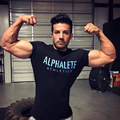 ALPHALETE Brand Men's T-shirts Fashion Crossfit cotton T shirt Short sleeve Brand Tees Tops Clothing Muscle Men Bodybuilding