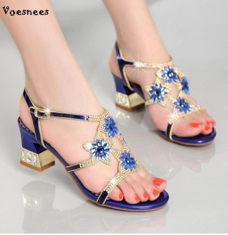 2018 New Many Colour High Quality Toe Sandals Women Shoes High-heeled Comfortable Crystal Lady Shoes Size 4.5-8 Flower Crystal D купить в Москве 2019