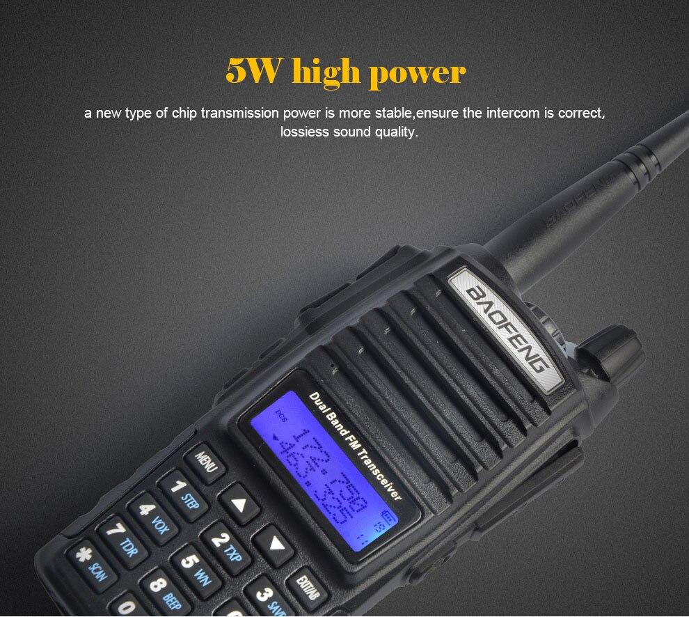 Baofeng UV-82 Портативный ham Радио портативная рация двойной PTT ручка Радио Baofeng uv82 Горячая продажа dual band портативная рация для охоты