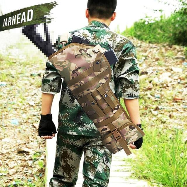 Outdoor Hunting AK Rifle Scabbard Knife Backpack Military 600d Waterproof Shoulder Sling Portable Holster Tactical Shotgun Bag