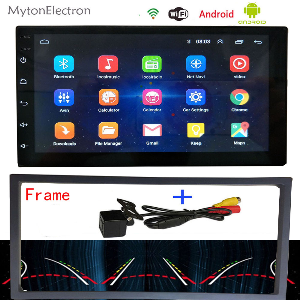 Dynamic Gps-Navigator Parking-Camera Bluetooth Android 2din Car-Radio Stereo Wifi FM