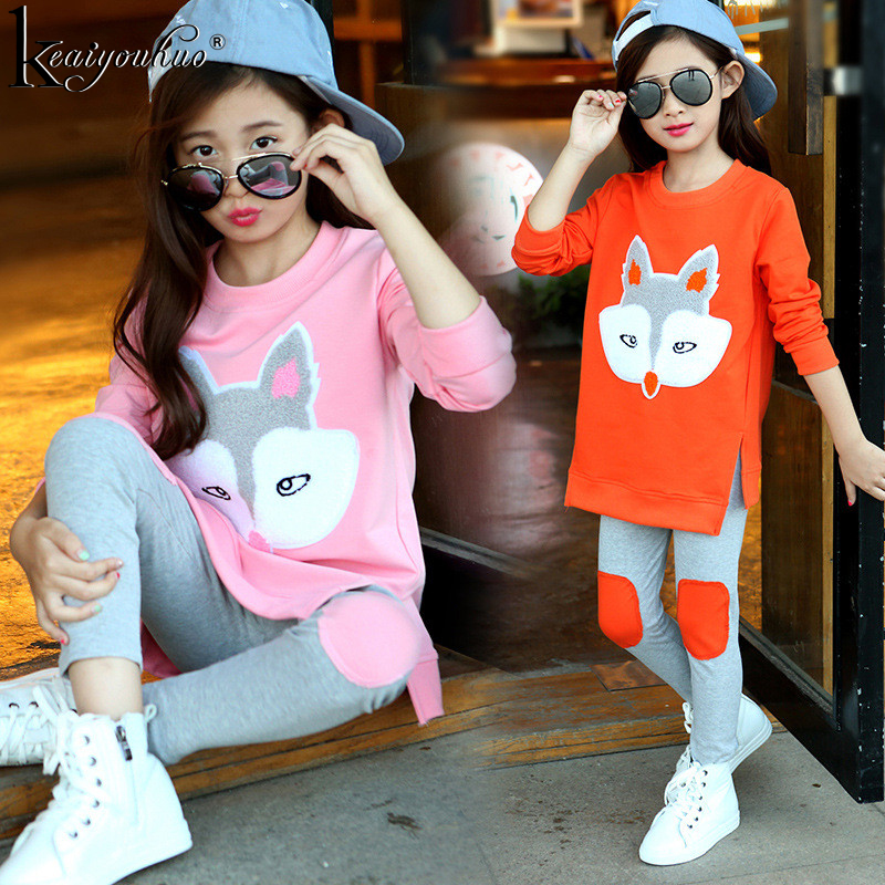 Autumn 2018 Children Clothing Girls Sets Long Sleeve Tracksuit For Girls Clothes Sport Suit Kids Clothes Sets 3 4 5 6 7 8 Years