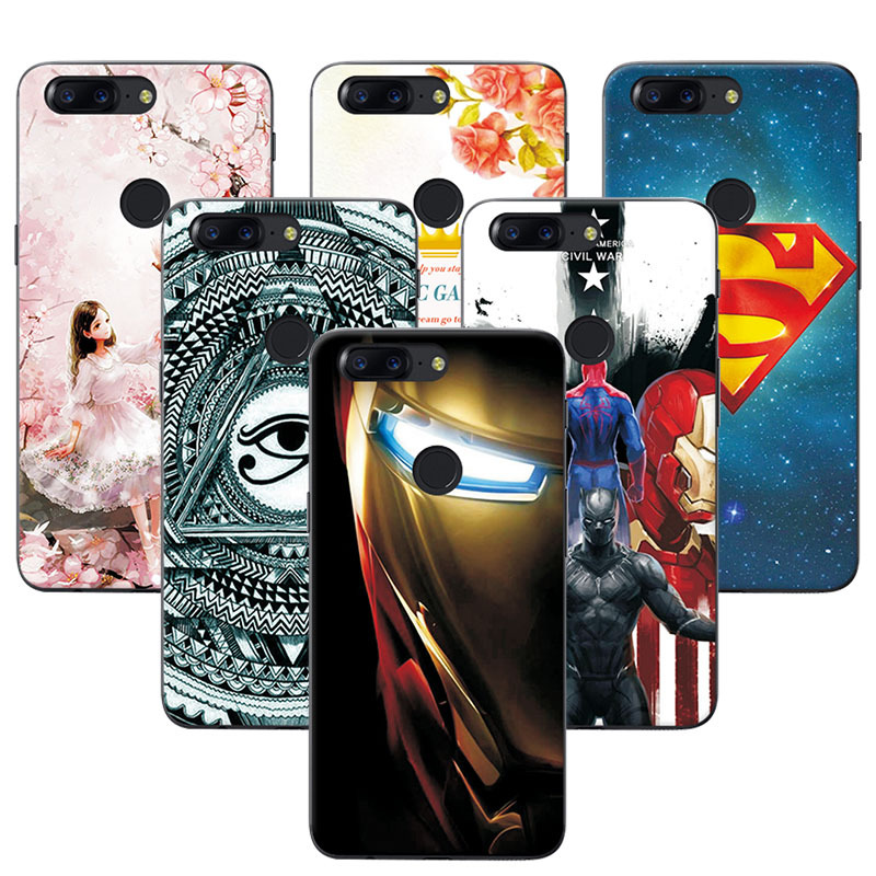 YOUVEI Soft TPU Cover Case For OnePlus 5T 6.01 Attractive Super Iron Man Phone Cases For One Plus 5T Covers Funda OnePlus 5 T