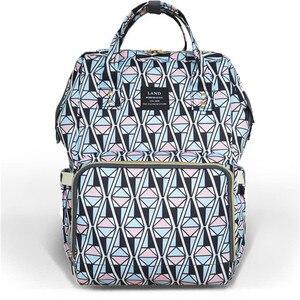 Image 4 - Clearance Original LAND Diaper Bag Large Capacity Nappy Bags Nursing Bag Fashion Travel Backpack Mommy Daddy Bebek Bag