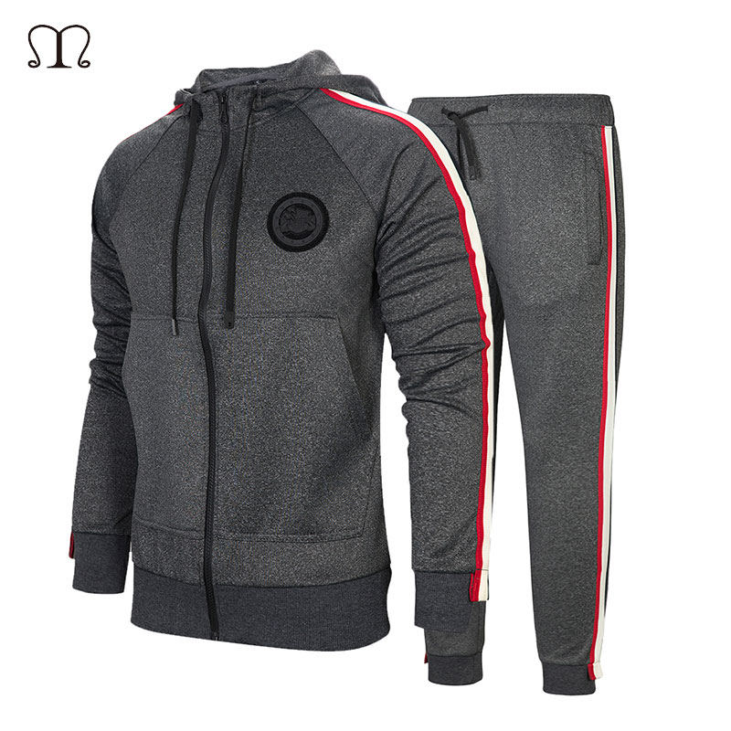 Tracksuit For Men Long Sleeve Men Sweatsuits Two Pieces Track Suit Brand Clothing Men Sportswear 2018 Casual Zip Sweatshirt Set
