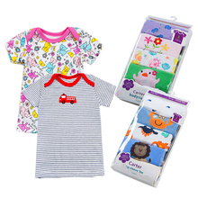 5 pcs/packBaby Short sleeve 100%Cotton T-shirt Baby & Kids tops tees cartoon o-neck toddler infant clothes