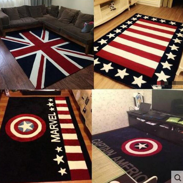 NEW 120X170cm Handmade Thick British Style Rice Word Flag Carpet Living Room  Carpet Coffee Table Carpet Part 14