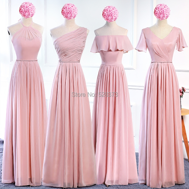 YNQNFS BD2 Elegant Chiffon Multi Color Halter   Bridesmaid     Dresses   Sky Blue Pink
