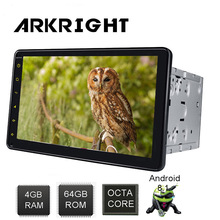 4GB/64GB 8 Andriod 8.1 Octa Core Car Radio Support 3G/4G Network Microphone Bluetooth Carplay HD GPS DVR Head Unit