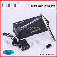 Cloupor cloutankชุดm4 2in1clearomizerระบบการควบคุมการไหลของอากาศpyrexแก้วสมุนไพรแห้งและขี้ผึ้ง2 in 1