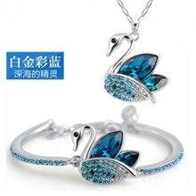 Wholesale Crystal Jewelry Sets Swan Pendants