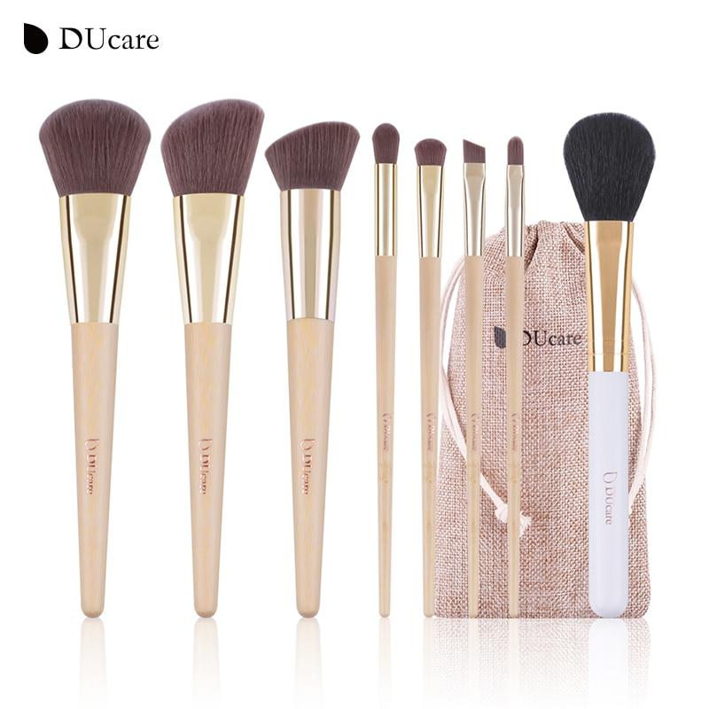 DUcare Makeup Brushes 8pcs Bamboo Foundation Eyeshadow Concealer Eyeliner Brushes Cosmetic kwasten make up