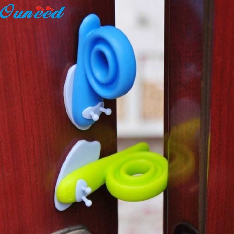 Ouneed Happy Home 3PCS Baby Safety Snail Shape Finger Safety Door Stopper Protector Children 3 pcs lot baby door stopper silicone cute soft safe baby care product snail finger safety stall doors stop bfh01