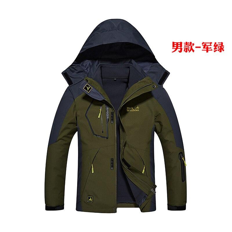 2 pièces 2017 nouveau hiver chaud vestes pour hommes femmes Camping randonnée veste de plein air Sport chaud imperméable hiver veste filles garçons