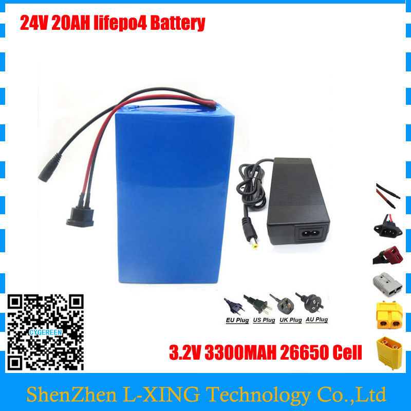 ebike battery 24v 20ah lifepo4 battery bicycle 24v 8S electric scooter battery for kit electric bike 700w with BMS , 2A Charger diy 24v 20ah electric bike battery 500w electric bicycle lithium ion battery with bms charger 24v li ion scooter battery pack