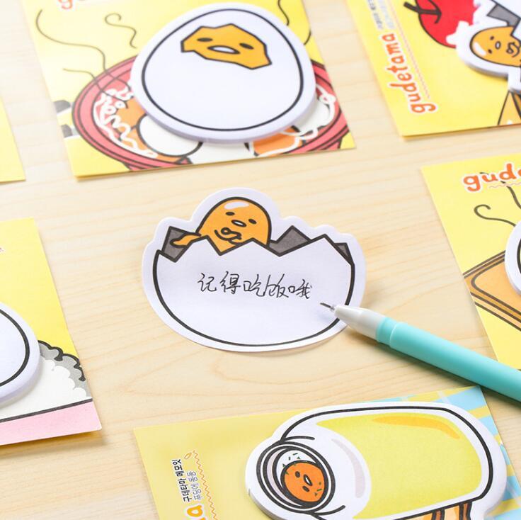 Cartoon New Arrival Gudetama Lazy Egg Mini Memo Pad Sticky Notes Escolar Papelaria School Supply Bookmark Label