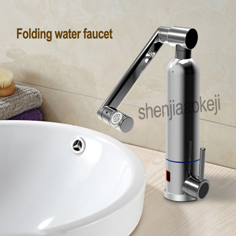 Robinet thermostatique chaud pliant plaque chauffante instantanée robinet électrique cuisine chaud froid double usage robinet d'eau pliable 1 pc - 5