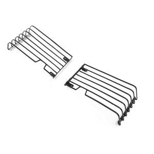 Image 1 - 2pcs Stainless Steel Front Light Guard for 1/10 Range Rover Classic Body RC Car Decoration Parts Accessories