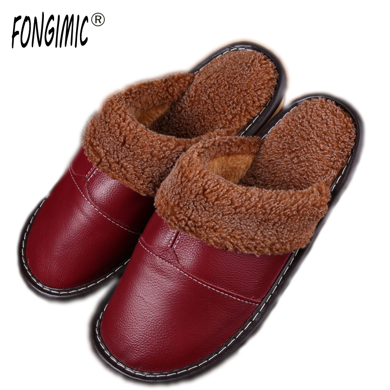 bedroom shoes. Online Shop FONGIMIC New Winter Slippers Home Warm Bedroom Cotton Shoes  Solid Fashion Trend Lovers Men Women Leather Aliexpress