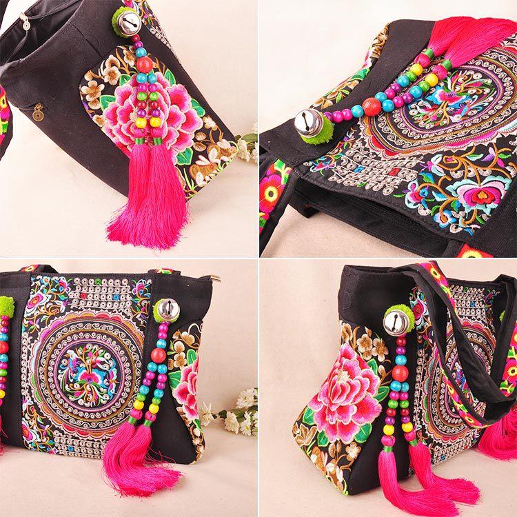 colorful 2017 sacolas bordados Étnicos! Tipos de Sacos : Ombro e Bolsas