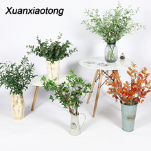 Xuanxiaotong Green Artificial Plants Cherry Olive Branch for Home Decorative Photography plantas artificiales para decoracion цена