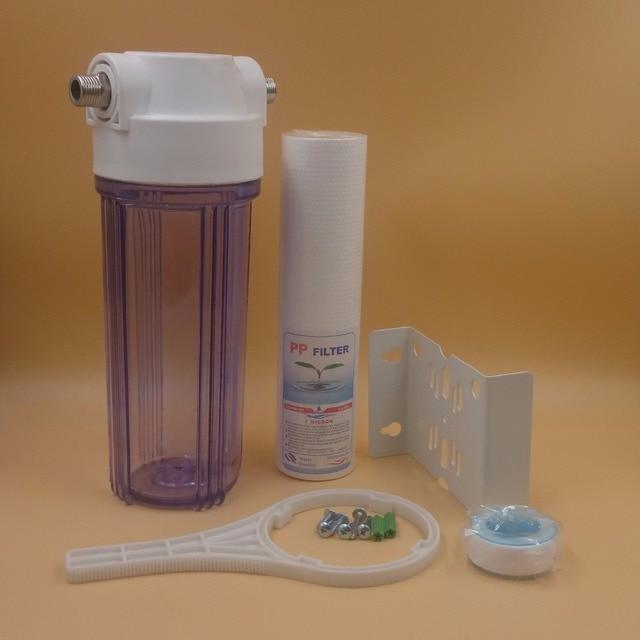 10-дюймовый висящий одноступенчатый бытовой фильтр для очистки воды, фильтр для очистки воды, центральный очиститель воды с фильтром PP
