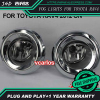 2PCS / Pair 4 Inch Halogen Fog Light For Toyota RAV4 2012 ON High Power Halogen Fog Lamp Auto DRL Lighting Led Headlamp