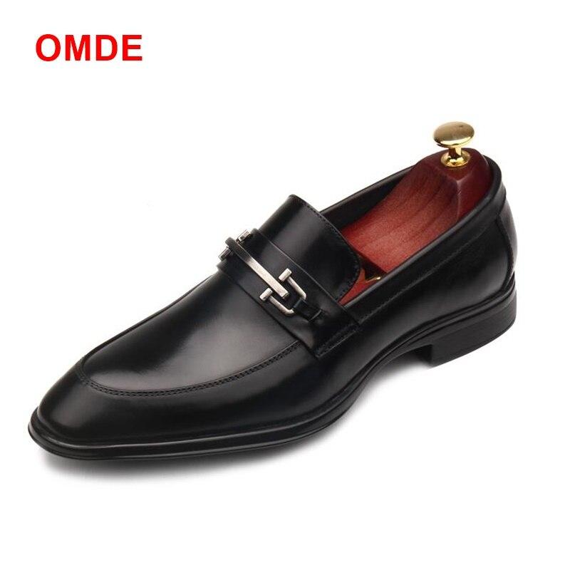 Deslizantes Zapatos Estilo Hombres Británico Genuino Cuero Hombre Negros Boda Mocasines Formales De Negocios Omde Novedad Vestir Picture Para As 45w1q1SP