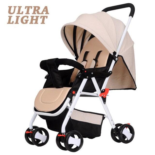 Детская Коляска Ультра Легкий Зонт Автомобиль Коляска Детские Коляски Сна Складная Коляска Коляски 4 Колеса 5 Цветов