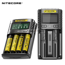 NITECORE UMS4 UMS2 SC4 Intelligent Faster Charging Superb Charger with 4 Slots Output Compatible 18650 14450 16340 AA Battery