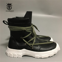New Handmade genuine leather cross strap Lace military Harness Boots real picture comfortable high quality new season boots