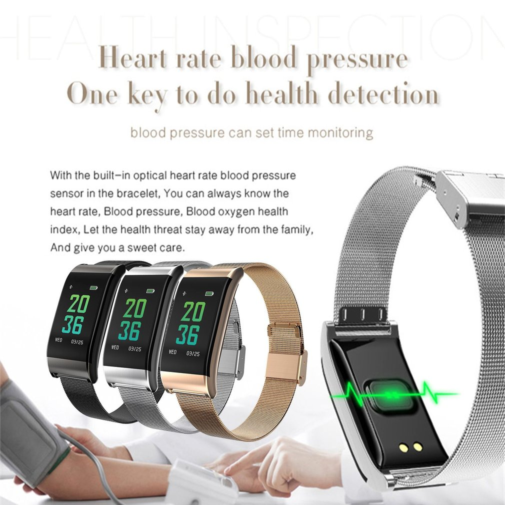 B23 Smart Bracelet Color Screen Heart Rate Blood Pressure Monitor Sport Watch IP67 Waterproof Steel Strap Fitness Wristwatch платье розовое billieblush ут 00011545 page 8