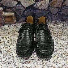 2018 Новый 100% натуральная crocodil кожи живота для мужчин в деловом стиле Роскошные качественные мужские Бизнес обуви high end кожи мужская обувь