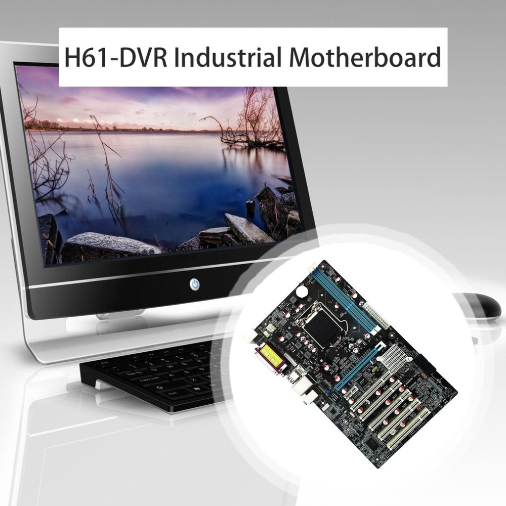 High Performance H61 DVR Industrial Control Board Professional Motherboard Portable Security Monitoring Mainboard pcisa 3716ev r4 long motherboard industrial board 100