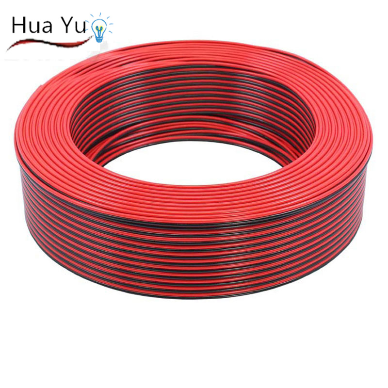 150m 2pins copper wire, AWG22 Red Black cable, copper insulated wire ...