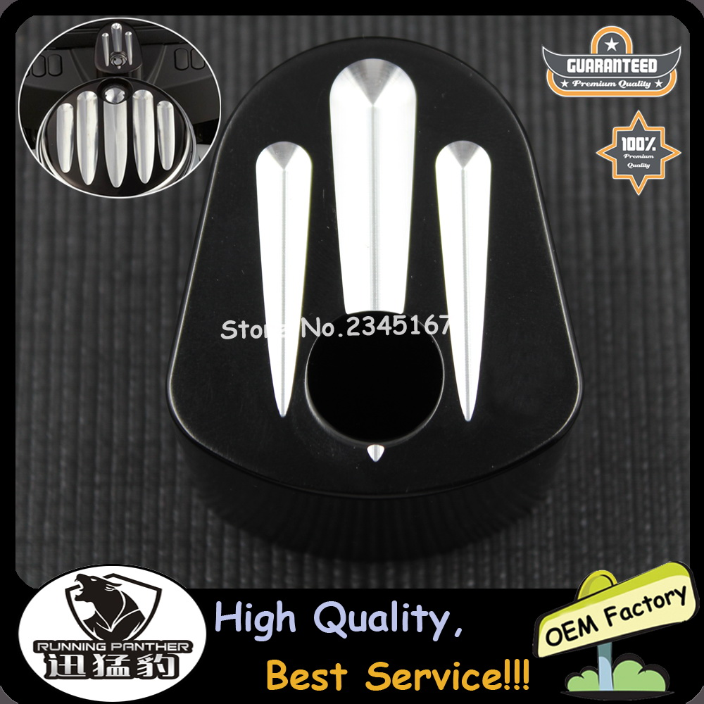 For Harley Touring Street Road Glide 07-13 NEW Black Deep Cut Ignition Switch Cover CNC Aluminum