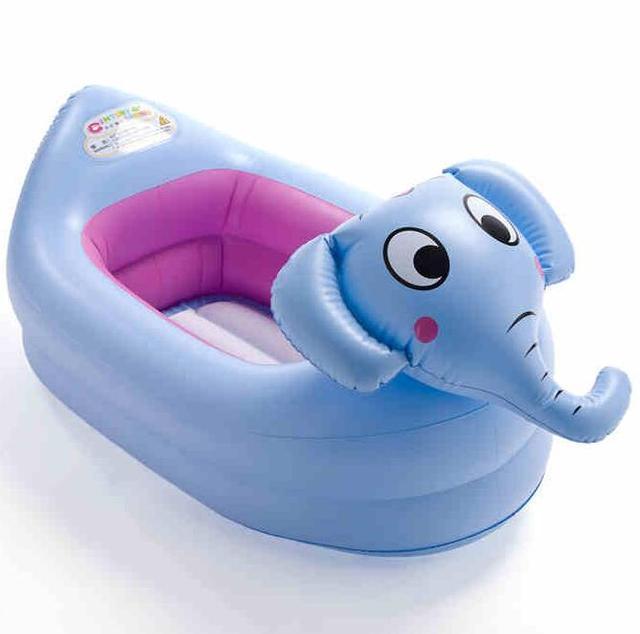 Banheira inflável do bebê Animal dos desenhos animados tanque de lavagem das crianças inflável dobrável banheira espessamento 0 - 12 meses do bebê crianças crianças banheiras