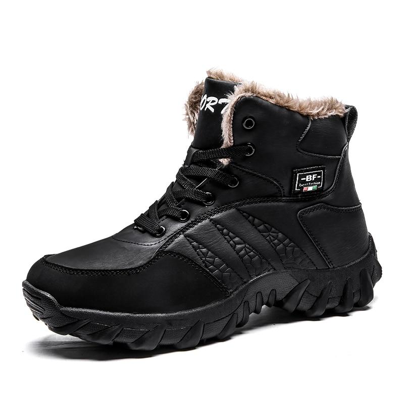 Pelúcia Moda Preto Ankle De Homens Novos Da Botas Neve Calçados marrom Boots 39 47 Casuais Inverno Quente Com xzXxa7F