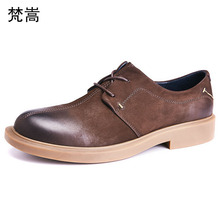 Spring casual shoes mens Genuine Leather British Lace-Up  business shoes men casual natural leather loafers men high quality цена 2017