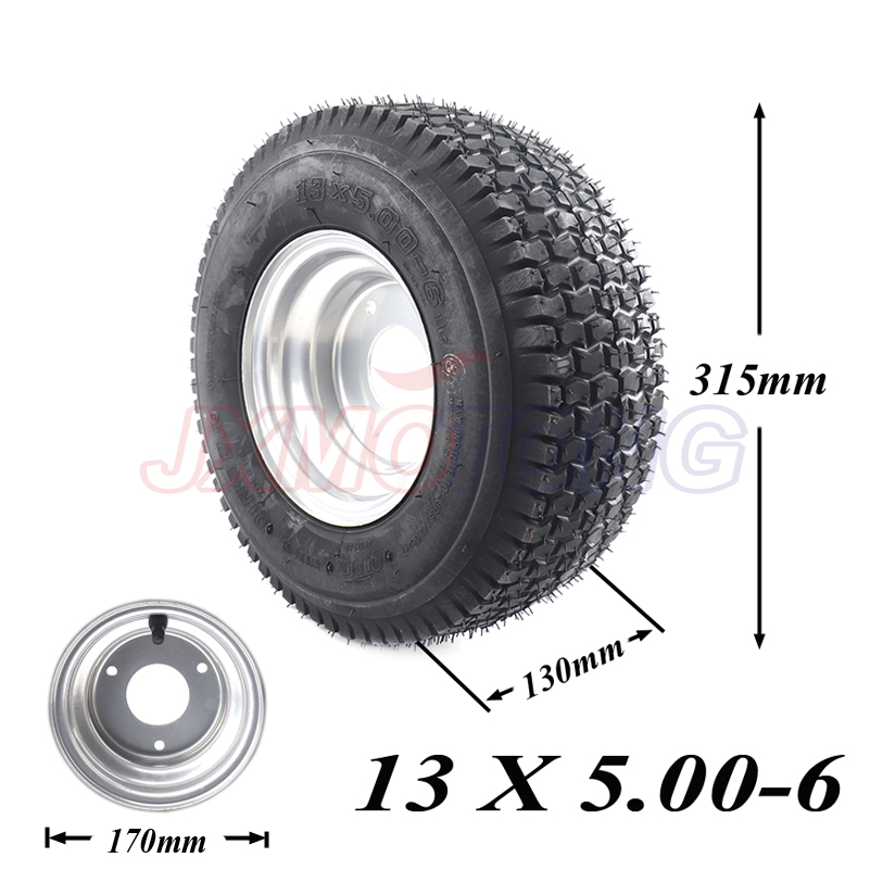 Garden Tractor Rider Mower ATV GO-kart Drift Bike Wheels beach car accessories 13 x 5.00-6 Tubeless Tire and Rim Wheel drift tire front 10spoke bk 24mm 2pcs